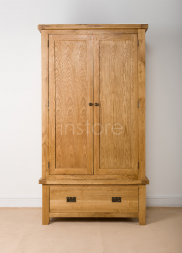 Loxley Oak Gents Double Wardrobe